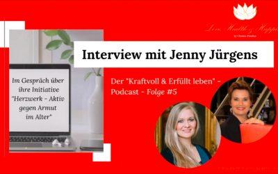 """Jenny Jürgens im """"Kraftvoll & Erfüllt leben""""-Podcast"""